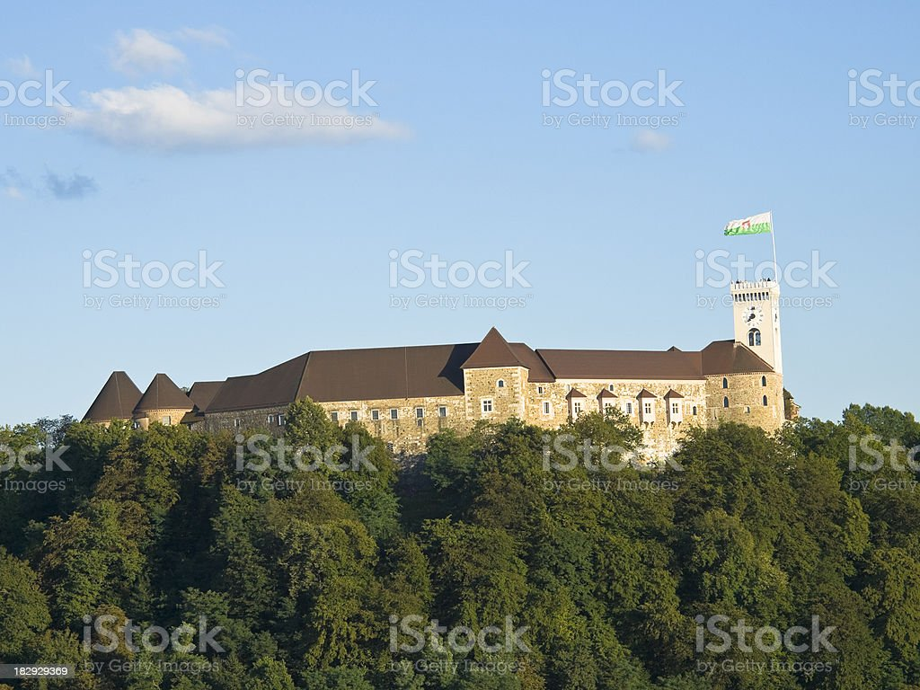 LJubljana castle royalty-free stock photo