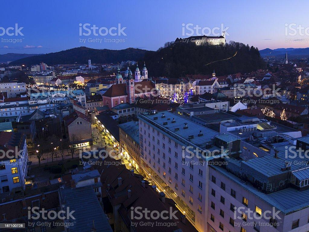 Ljubljana castle royalty-free stock photo