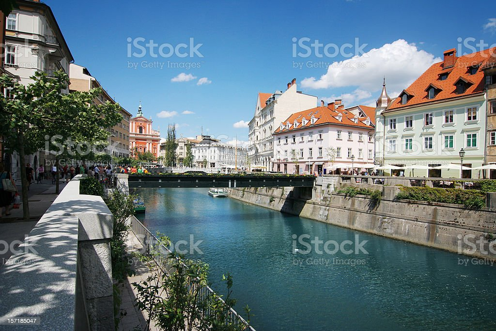Ljubljana - city center royalty-free stock photo