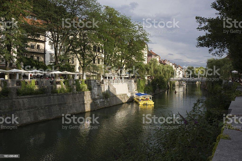 Ljubljana River in Slovenia royalty-free stock photo