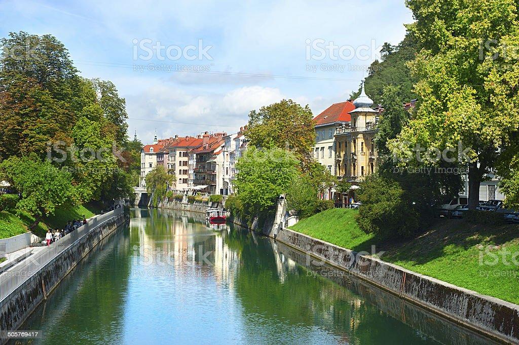 Ljubljana river royalty-free stock photo