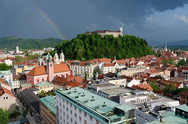Laibach mit Regenbogen – Foto