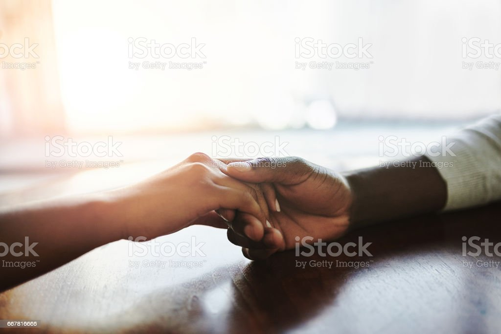 I'll be here for you, always and forever stock photo