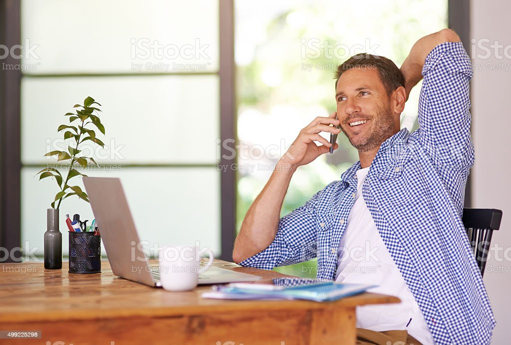 I'll be in the office all day stock photo