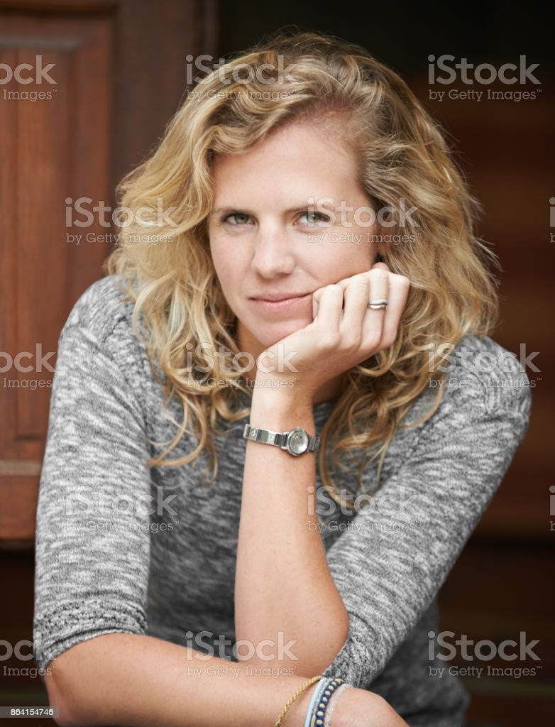I'll be right here relaxing if anyone needs me royalty-free stock photo