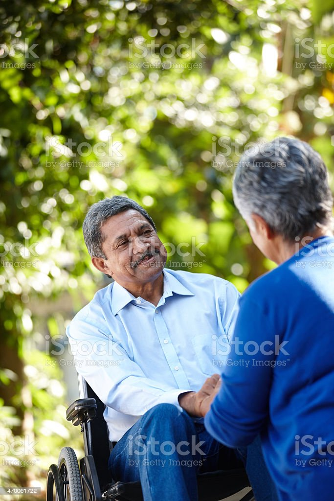 I'll be with you every step of the way stock photo