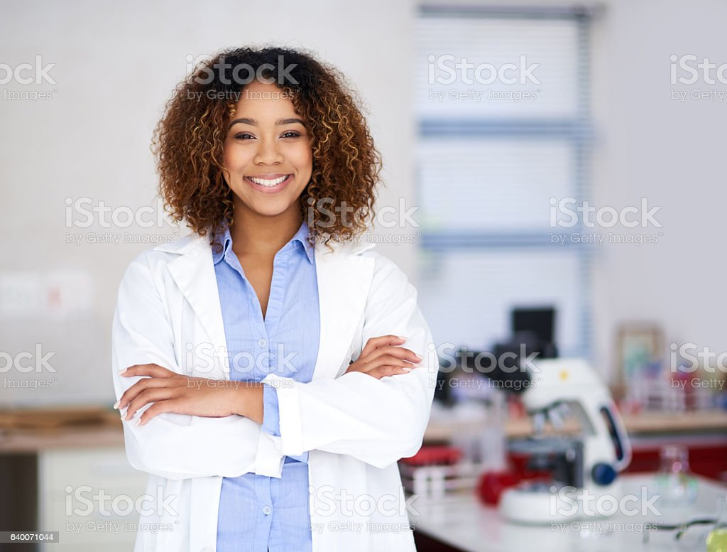 I'll find the cure! stock photo