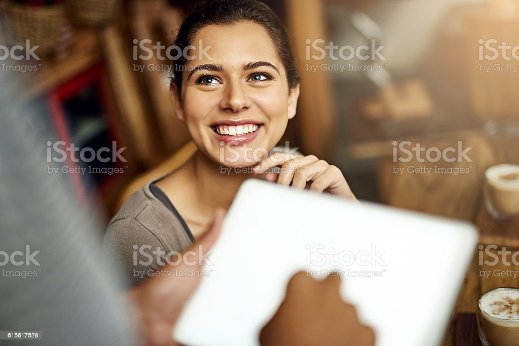 I'll have whatever is on special stock photo