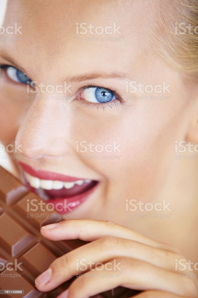 I'll just have a small bite... royalty-free stock photo
