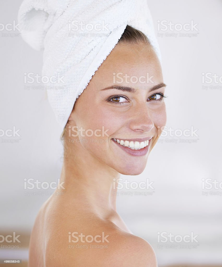 I'll let you in on my beauty secret... stock photo