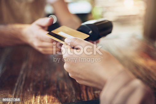 istock I'll pay by card, thank you 869321368