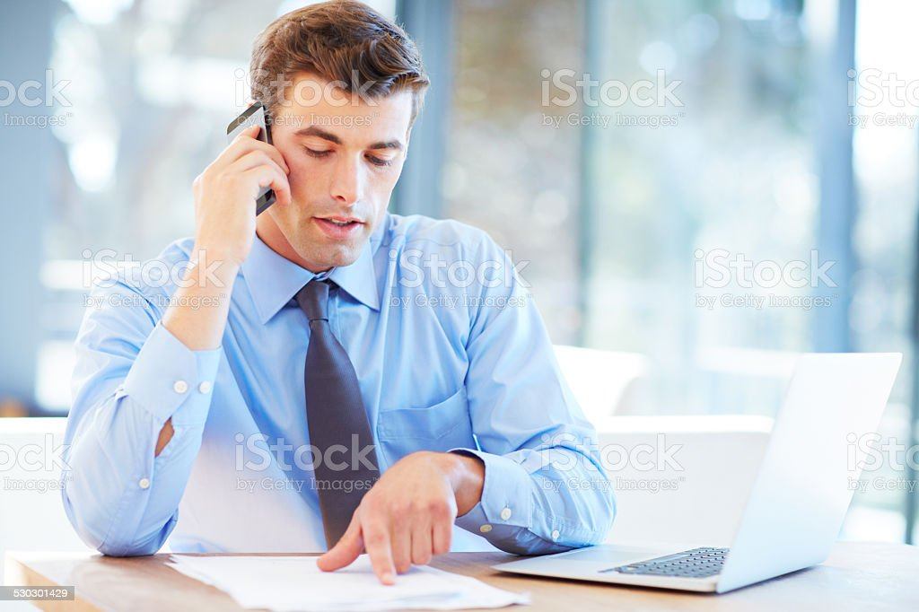 I'll read it to you... stock photo