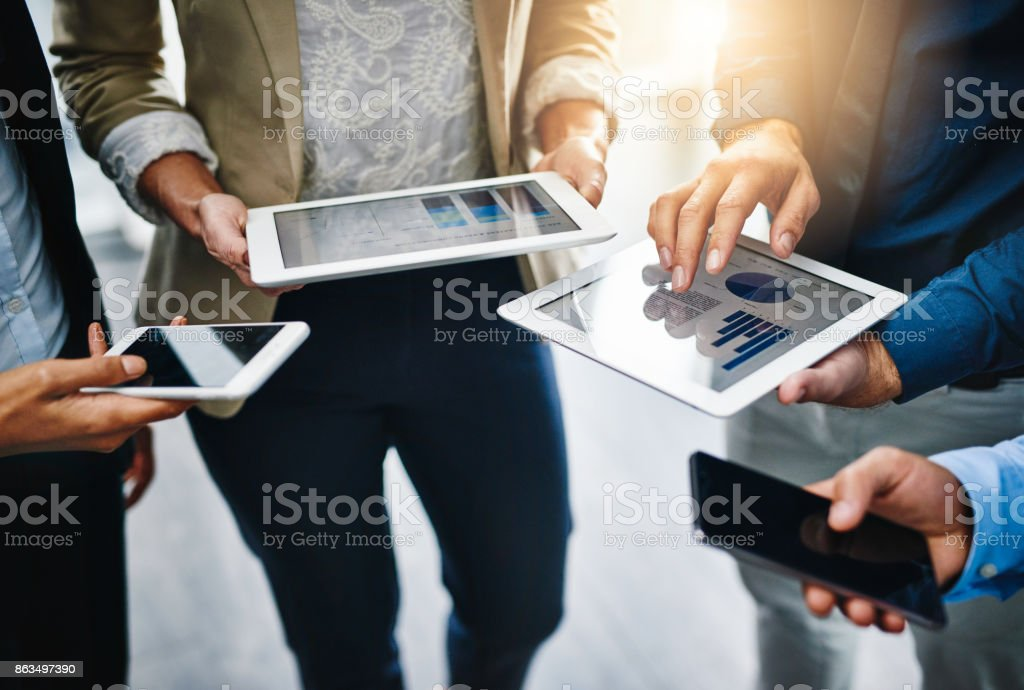I'll share the information with you... stock photo