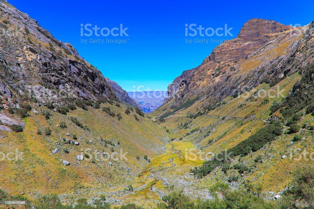 Llaca vale na Cordilheira Blanca - Huaraz - Andes de Ancash, Peru - foto de acervo