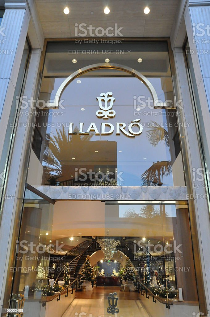 Lladro store at Rodeo Drive in Beverly Hills, California stock photo