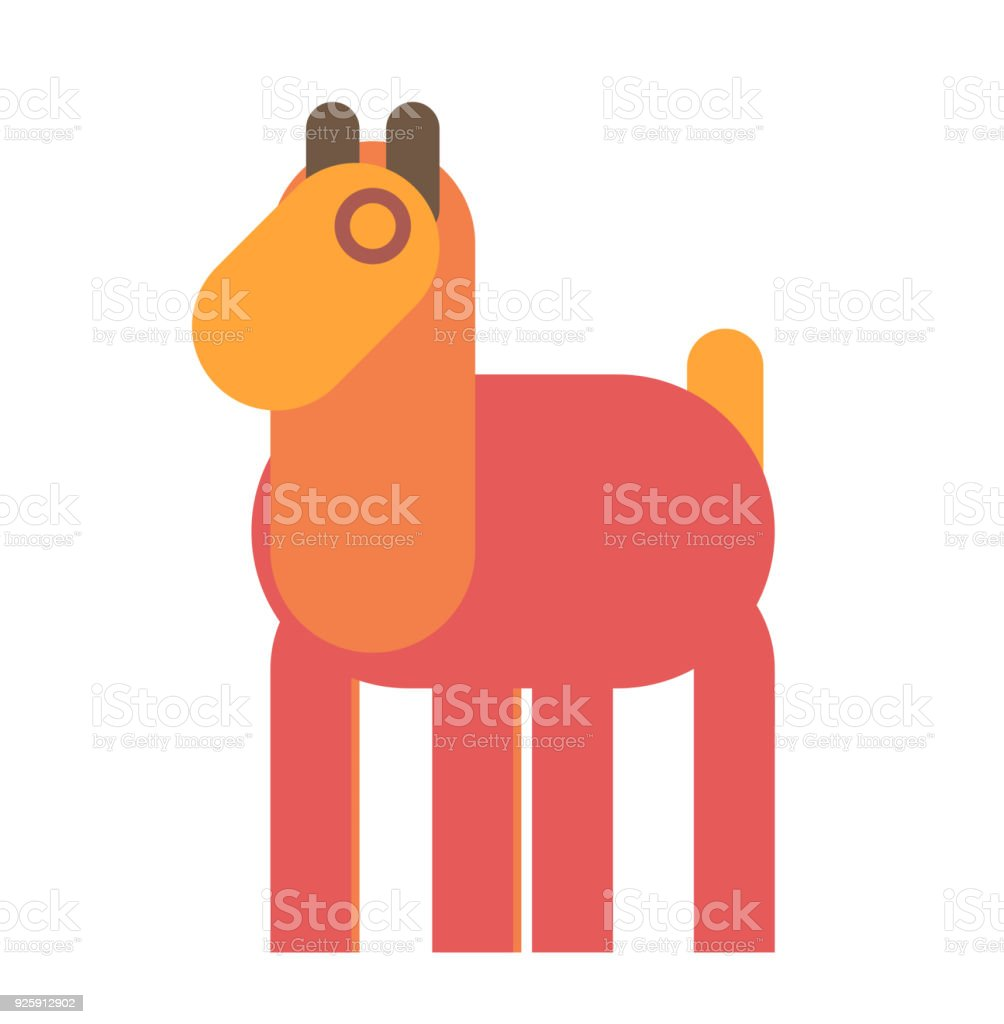 llama graphic from shapes stock photo