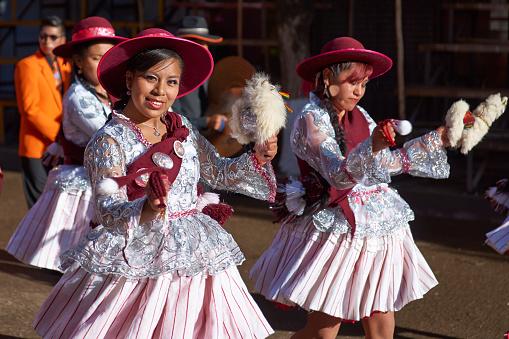 Llamerada dancers at the Oruro Carnival