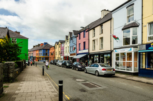 Llanberis High Street stock photo