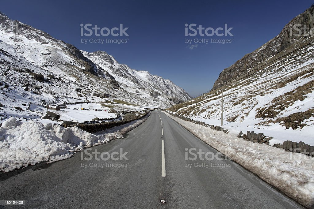 Llanberis pass snowdonia stock photo