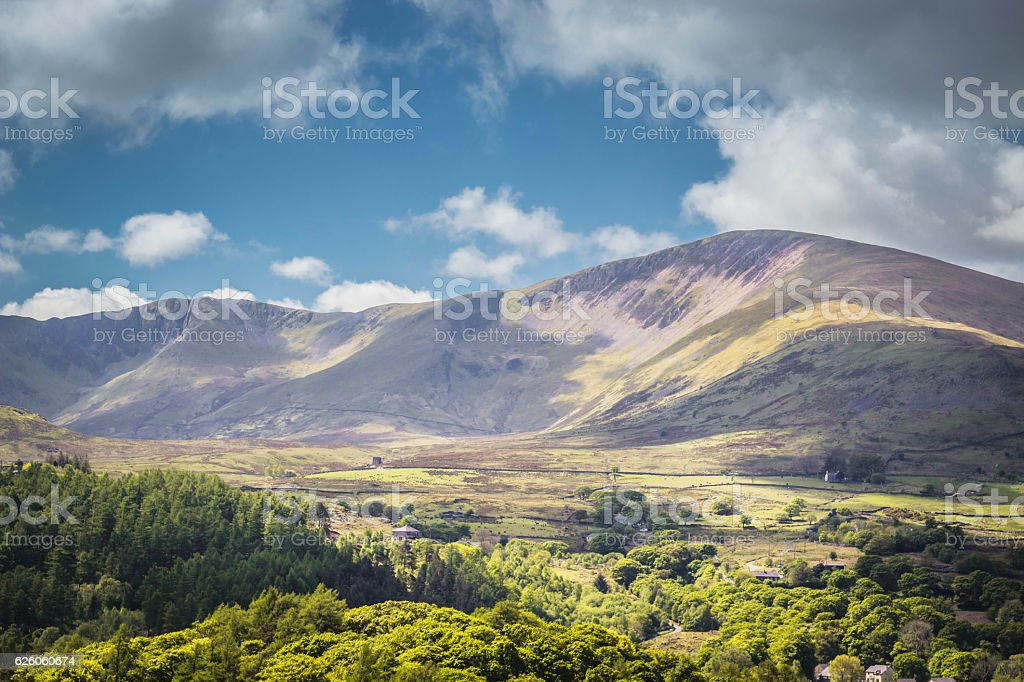Llanberis stock photo