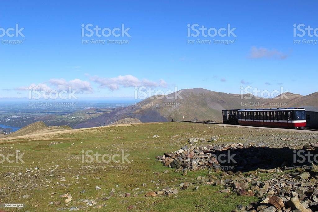 Llanberis Train stop stock photo