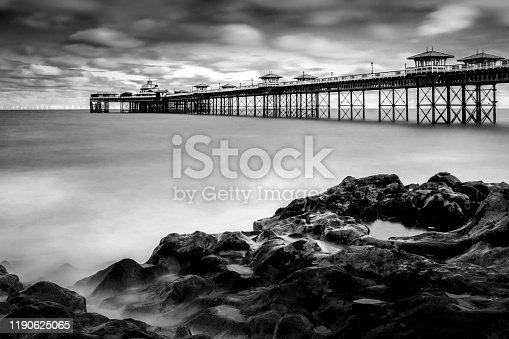 View of the pier at Llandudno, North Wales.