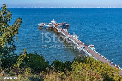 View of Llandudno Pier in Wales, UK