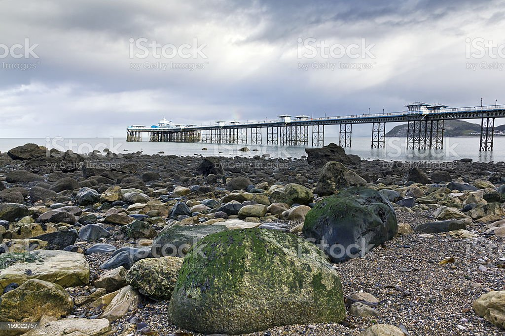 Llandudno Pier, North Wales royalty-free stock photo