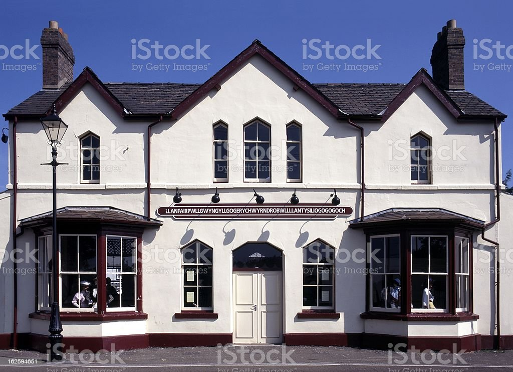 Llanfair railway station, Anglesey, Wales. royalty-free stock photo