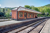 View of Llangollen railway station in North Wales