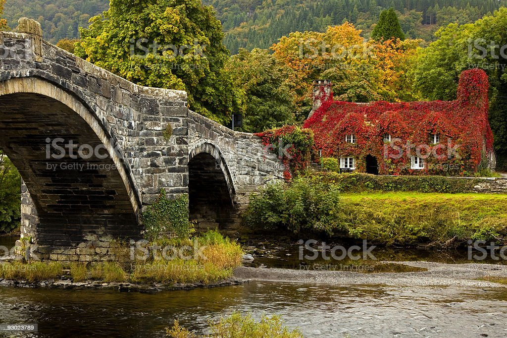 Llanrwst, North Wales stock photo