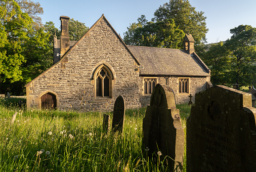Llantysilioparochiekerk In De Buurt Van Horseshoe Falls Stockfoto en meer beelden van Afgelegen
