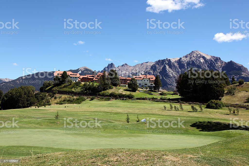 Llao Llao Hotel and Resort Bariloche, Argentina royalty-free stock photo