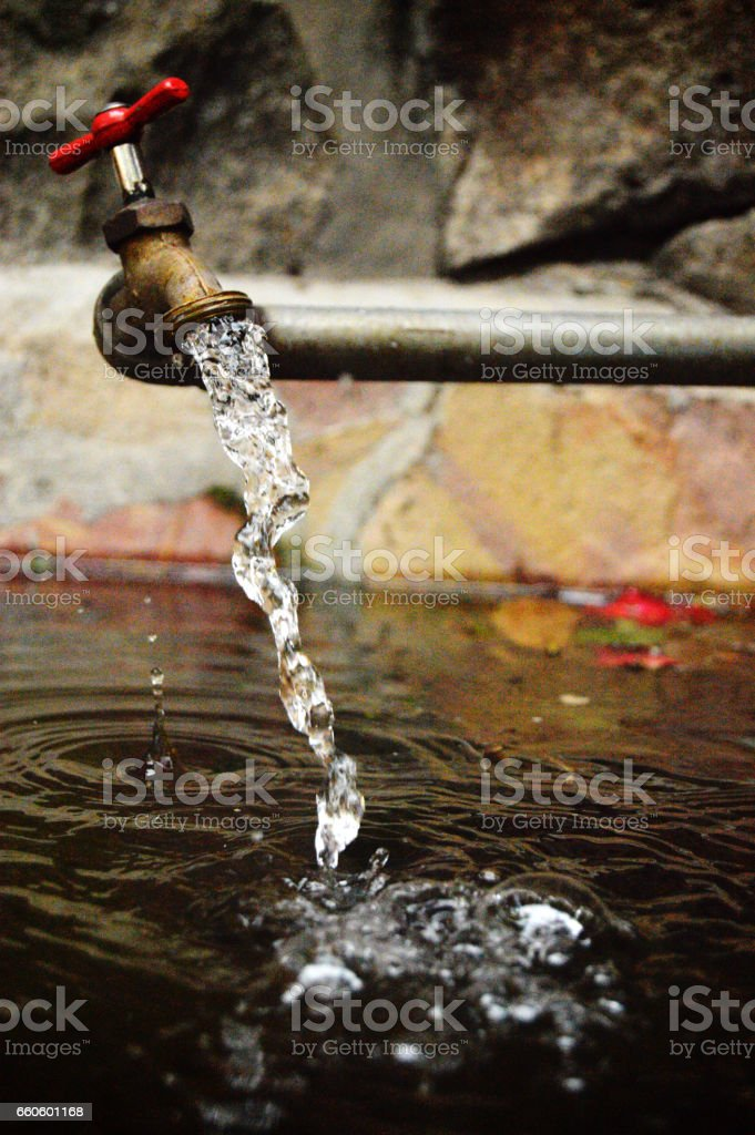 Llave de agua royalty-free stock photo