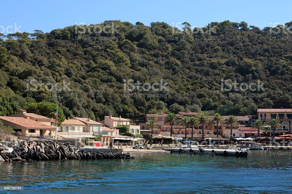 l'île de Porquerolles stock photo