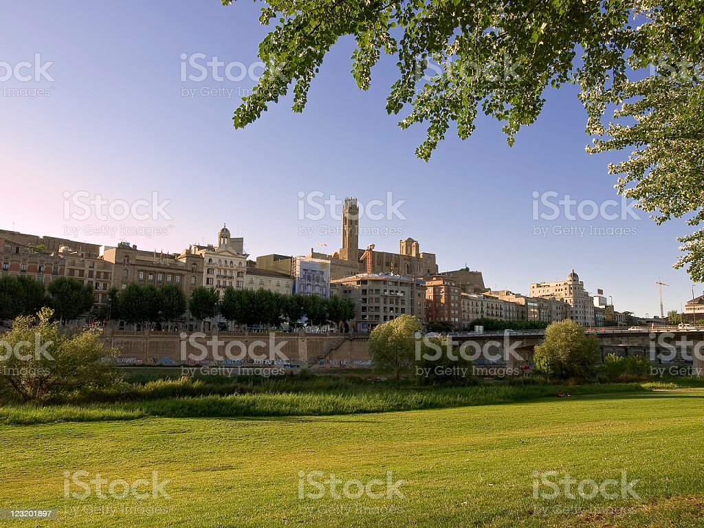 Lleida city stock photo