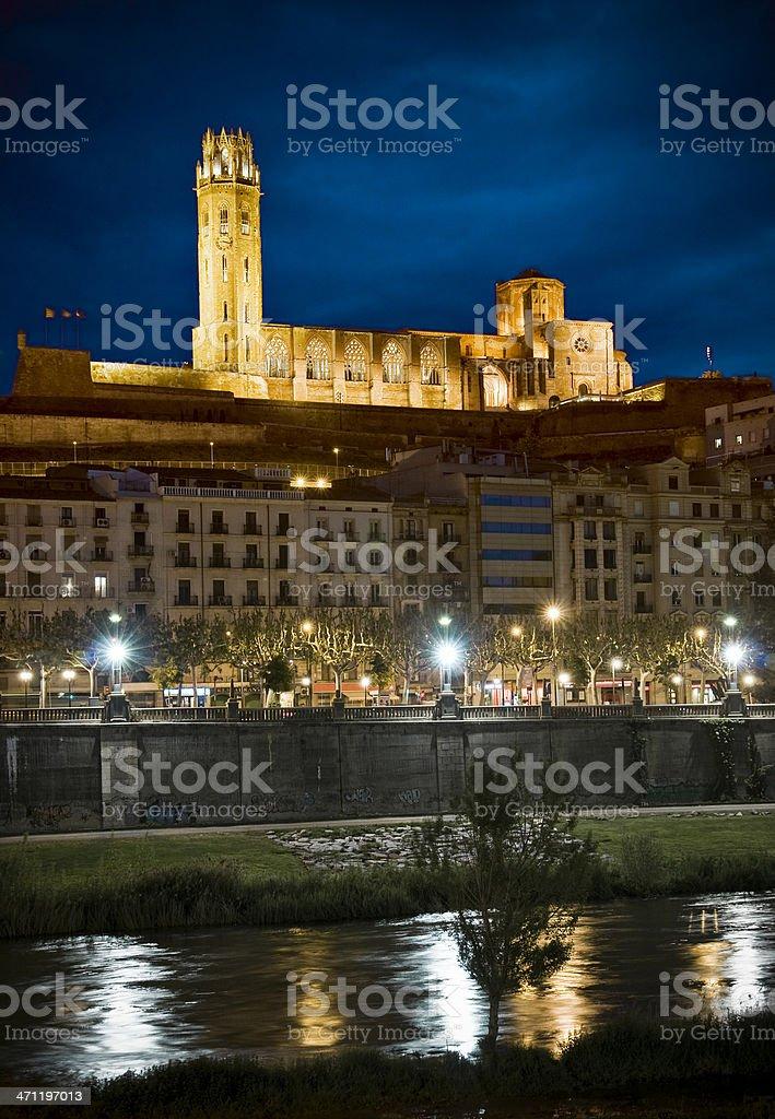 Lleida Skyline stock photo