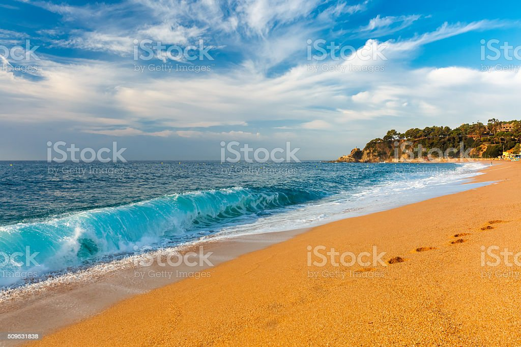 Lloret de Mar on the Costa Brava, Catalunya, Spain stock photo