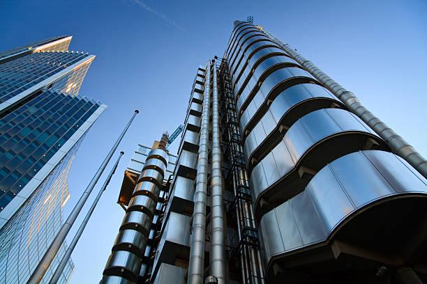Lloyd's building, London. stock photo