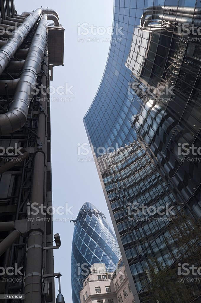 Lloyd's of London and the Willis Building royalty-free stock photo