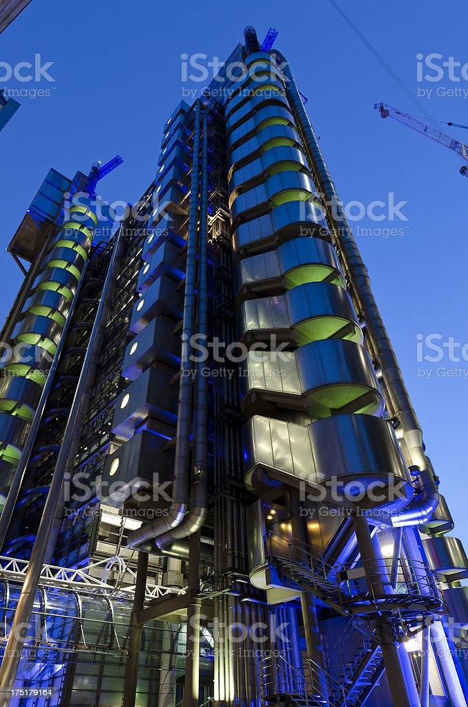 Lloyds of London at night royalty-free stock photo