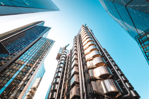 Lloyd's of London Building London's iconic Lloyd's Building, designed by architect Richard Rogers, also known as the Inside-Out Building. central london stock pictures, royalty-free photos & images
