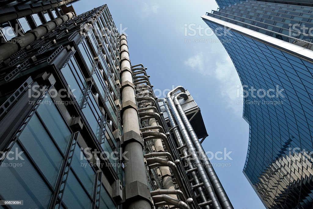 Lloyds of London, City financial district skyscrapers stock photo