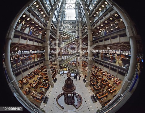 Abstract fish-eye of the main atrium of Lloyd's of London Lloyd's of London, generally known simply as Lloyd's, is an insurance and reinsurance market located in London,