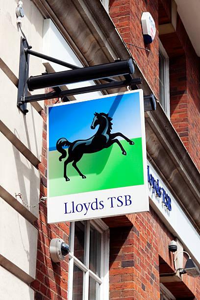 lloyds tsb bank-schild - beckenham town stock-fotos und bilder