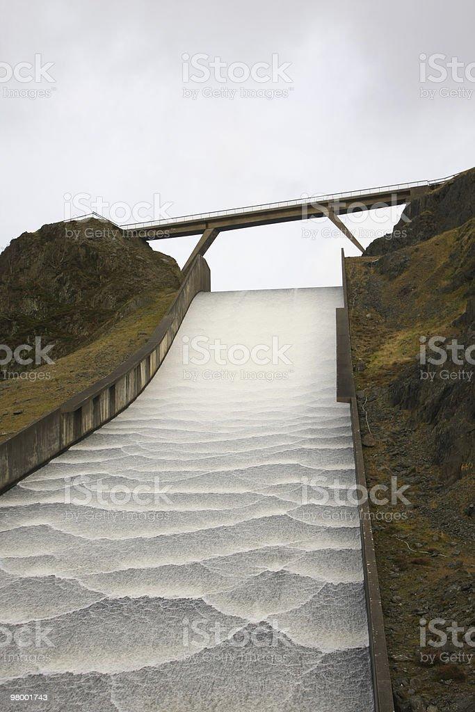 Llyn Brianne Dam royalty-free stock photo