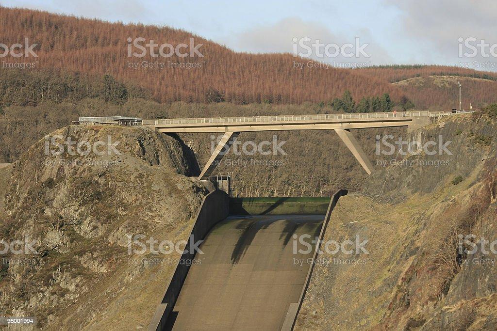 Llyn Brianne Dam royalty free stockfoto