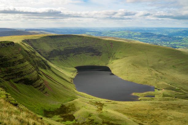 Llyn y Fan Fach It was a beautiful location to go for a hike and on the way, I was able to grab a shot of the lake. brecon beacons stock pictures, royalty-free photos & images