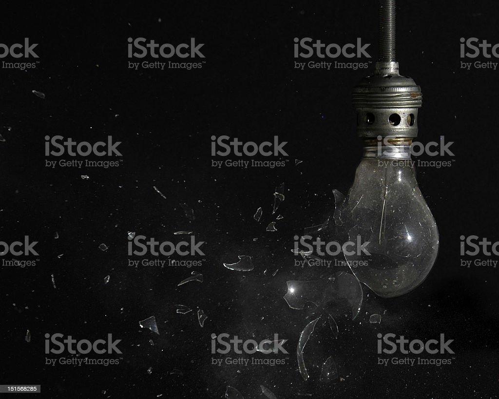 Lámpara Rota por una Bala stock photo