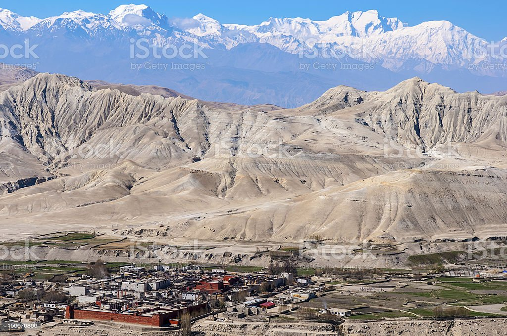 Lo Manthang: The Walled City stock photo